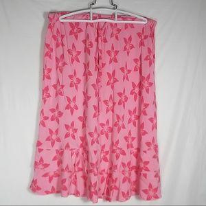 2f0b4bf4 Blue Ginger Pink Hawaiian Designs Flowers Skirt